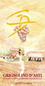 Grignolino d'Asti DOC - Cocito Dario (etichetta)